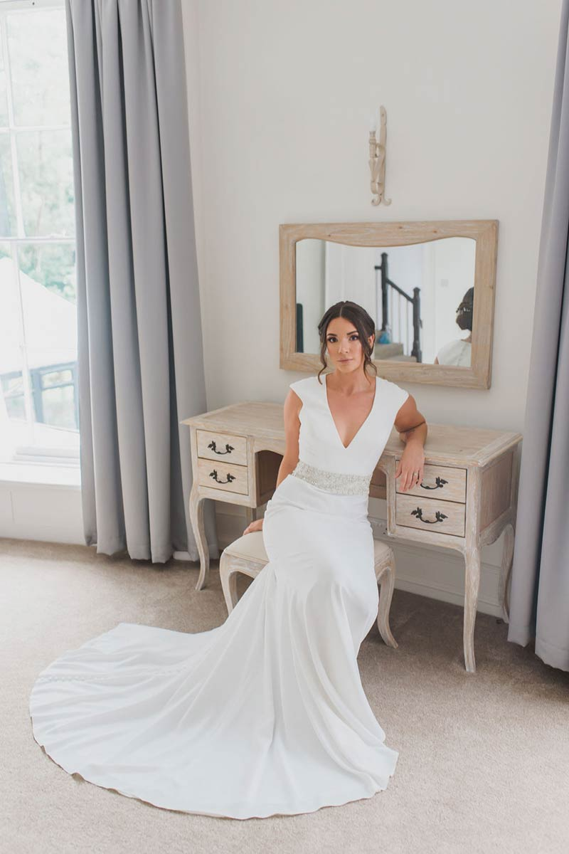 bride at country house wedding venue the old rectory